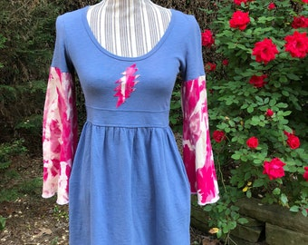 Upcycled Grateful Dead bell sleeved tunic dress