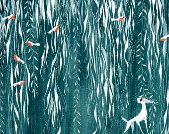Alver in the Willows Print