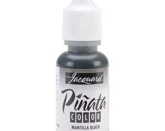 Pinata Color alcohol ink by Jacquard, .5oz bottle, Mantilla black