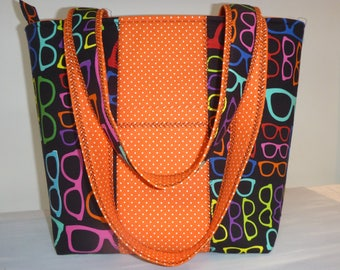 Tote bag. Used as a carrying case, travel, beach, shopping, your knitting, etc...