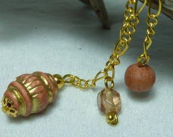 """Gold tassel earring wire """"Rosewood"""""""