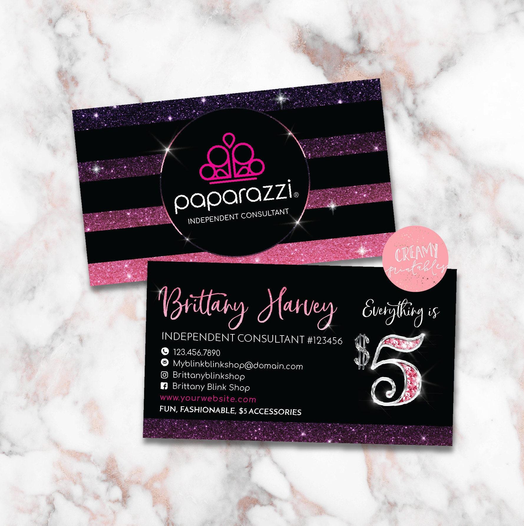 Paparazzi Business Cards Free Personalized Paparazzi Jewelry