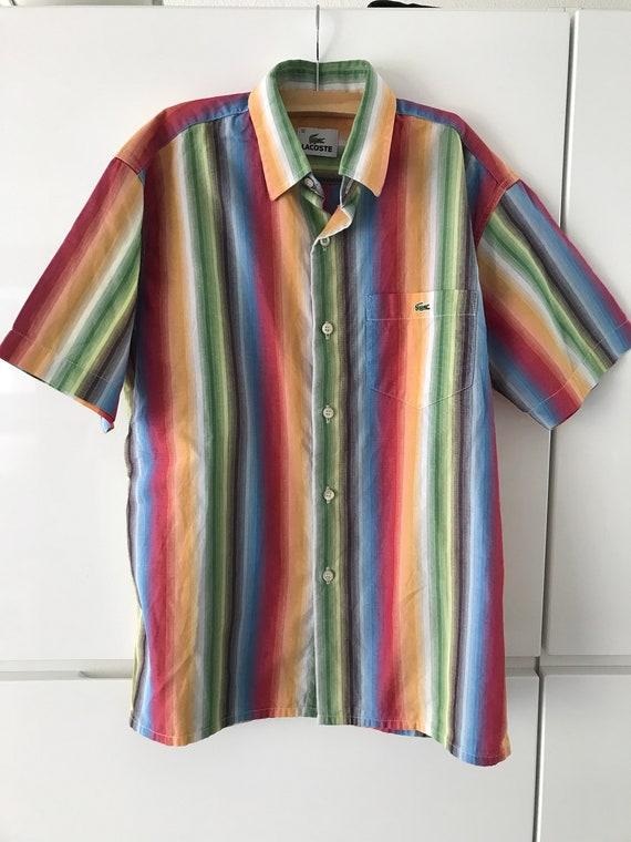 Vintage Lacoste shirt | Vintage shirt | Lacoste kids shirt | Vintage kids | Eighties striped shirt | Lacoste striped shirt | EUR 140 US 10