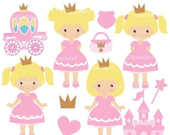 ON SALE INSTANT Download. Princess clip art. Cp_18. Personal and commercial use.