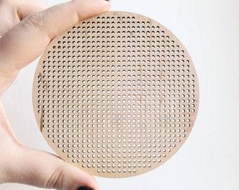 Cross stitch pendant blank - Large circle blanks Wood Needlecraft Pendant, Necklace or Earrings KA6 - wooden cross stitch blank - KA6-100 mm