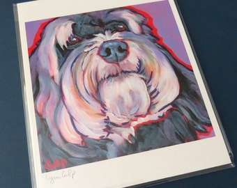 HAVANESE Dog 8x10 Signed Art Print from Painting by Lynn Culp