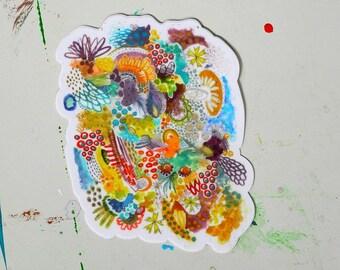 dreamscape - 4 x 4.5 inch vinyl weatherproof sticker