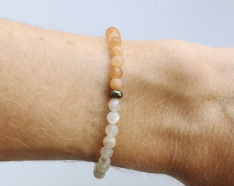 Moonstone Crystal Bracelet - The ultimate feminine stone - soothing, healing calm energy