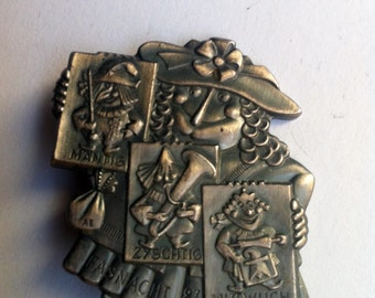 Vintage brooche, Witches ' Night, pewter jewels-vintage Brooch, witches ' night, Pewter Jewelry