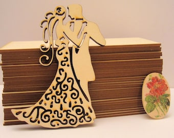 Bride 1237a wood embellishment wooden Littles 6 mm
