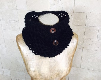 Scarf - Black Scarf - New Infinity Scarf - Infinity Scarf - Knitted Scarf - Circle Scarf - Scarves - Winter Accessories