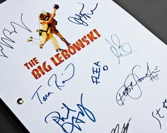 The Big Lebowski Film Movie Script with Signatures / Autographs Reprint Unique Gift Screenplay Present TV Fan Geek