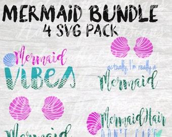 Mermaid Bundle Svg - Mermaid Vibes svg - Im Really a Mermaid Svg - Mermaid