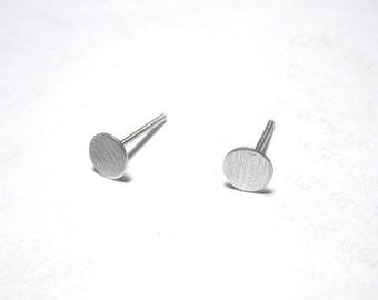 Flat 5mm Sterling Silver Round Studs, 5mm Sterling silver earrings, silver studs, Sterling silver stud earrings 0035