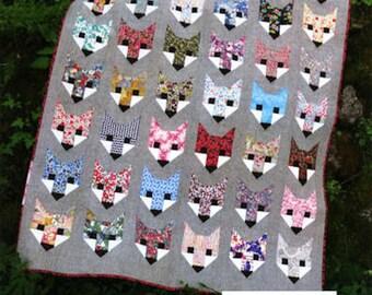 Fancy Fox Quilt Pattern by Elizabeth Hartman 3 Sizes- Baby, Lap and Twin