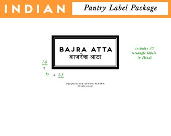 INDIAN PANTRY printed labels precut package package rectangle modern