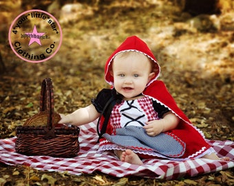 Storybook Character Little Red Riding Hood Cape Only for babies  sizes 0-3 mos to 2t Halloween