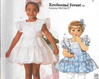 Vintage 1980s McCall's Sewing Pattern 2366 - Enchanted Forest Girls' Dress and Slip uncut