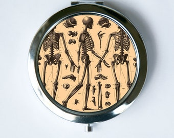 Anatomy Skeletons Compact Mirror Pocket Mirror gothic psychobilly