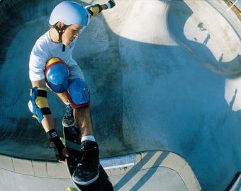"80s Skate Photo - 30X40"" - Chris Miller Pole Cam Eighties Skateboarding Photograph"