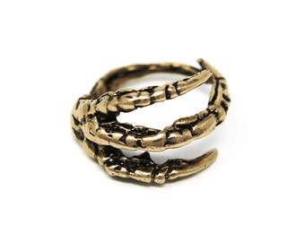 Raven Claw Ring in Bronze Raven Claw Ring - The Original Claw Ring  Bird Crow 002