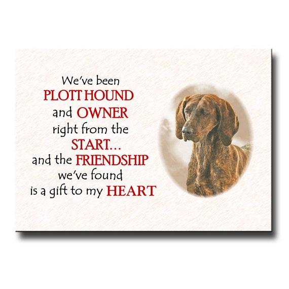 Plott Hound Friendship Fridge Magnet