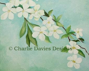 White Blossom Giclee Print