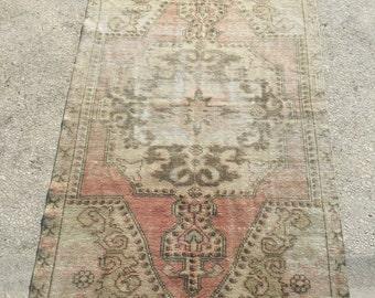 7.3x3.9 feet 222x120 cm, Anatolian Rug, Oushak Anatolian Carpet Rug Tribal Rug,Vintage Turkish Rug,Bohemian Carpet Rug, Turkish Ethnic Rug,