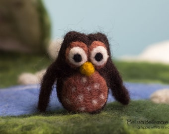 Waldorf Inspired Needle Felted Woodland Owl