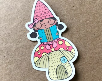 Bookworm Nina, Die Cut, Gnome, Travelers Notebook Supplies, Bookmark