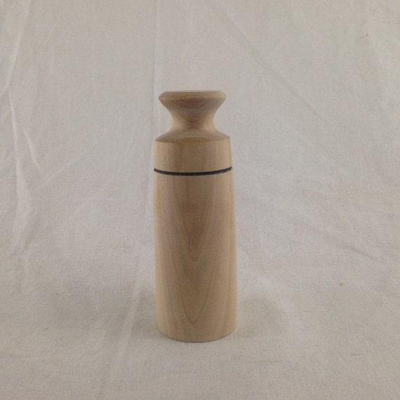 Turned Maple Box, Raw Wood