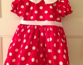 Minnie dress in red or pink