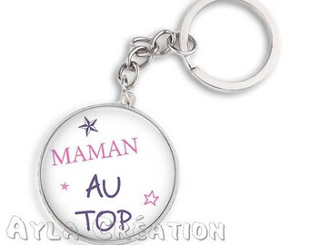 Cabochons glass 25mm MOM 82 Keyring