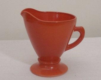 SALE - Vintage Orange Hazel Atlas Creamer