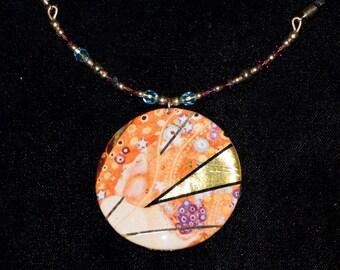 Round Disc Necklace