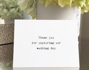 Thank you wedding photographer card / Thank you card / Wedding thank you card