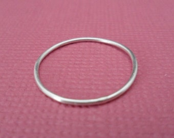 Stacking Ring - Barely there Ring, Thin band Ring, Sterling Silver Ring