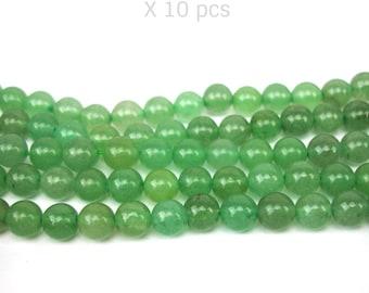 natural aventurine 6 MM 10 beads