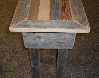 Small Scrap Barn Wood Side Table