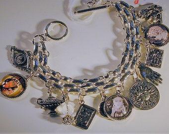 Fortune Teller Inspired Sterling Charm Bracelet OOAK