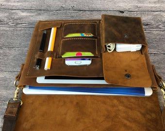 "Vintage Distressed Leather Macbook Case, New Macbook 12 "" Case, Macbook Air 11 "" 13 ""  Leather Sleeve, Macbook Pro Retina Cover bag, 653"