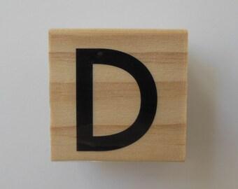 Letter D Stamp - Paisley Pizazz Collection - Alphabet Letter D Stamp