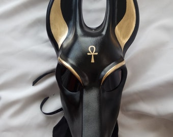 Anubis black mask  (hand made)