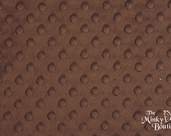 Minky Dot Fabric - Brown - from Shannon Fabrics