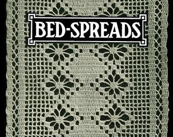 King's Book of Bedspreads c.1913 Vintage Patterns Motif Bedspreads in Crochet
