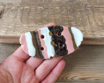 Large Ceramic  button handmade