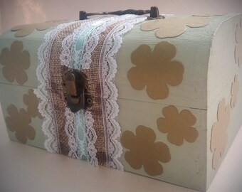 CLOVER box,treasure chest,GENTLE gift for a girl,memory box,birthday gift