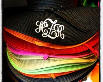 Monogram Straw Beach Hats