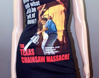 Texas Chainsaw Massacre Lace Horror Movie Slip Dress