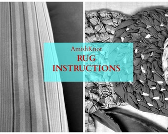 Rug Instructions ROUND Amish Knot Toothbrush/Digital File/pdf instructions to make a knotted rug/Knotted Rag Rug Instructions/DIY Rag Rug